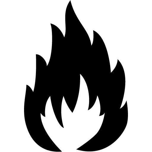 Black Flammable Icon