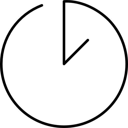 Continuous Line Clock Icons Free Download