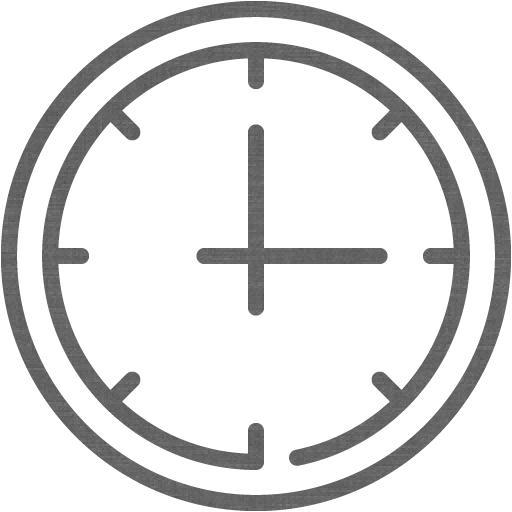 Grey Wall Clock Icon