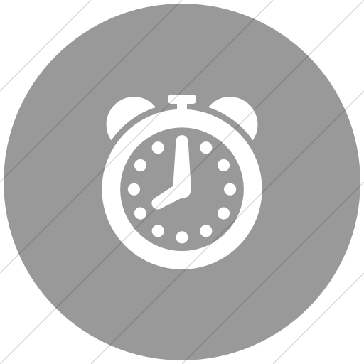 Flat Circle White On Light Gray Raphael Clock Alarm Icon