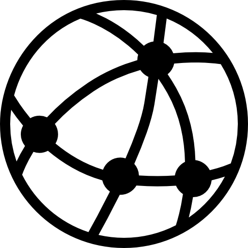 Earth With Connected Points On Grid