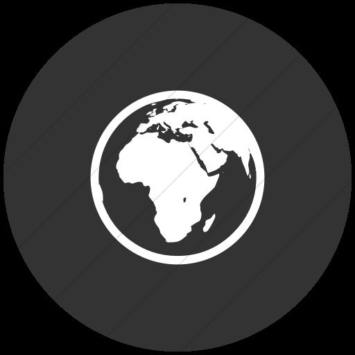 Flat Circle White On Dark Gray Classica Earth Europe