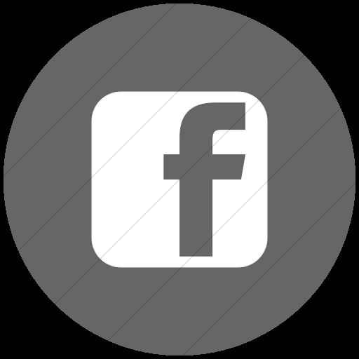 Flat Circle White On Gray Social Media Facebook Square Icon