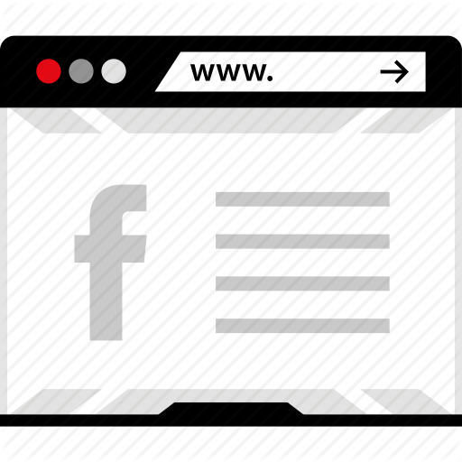 Browser, Facebook, Internet, Online, Social, Web Icon Icons Flat