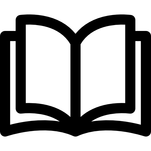 Open Book Flat Icon