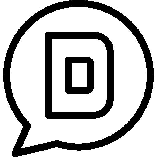 Flat Social Media Logo Elements Icon