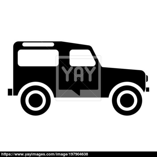 Off Road Vehicle Icon Black Color Illustration Flat Style Simple