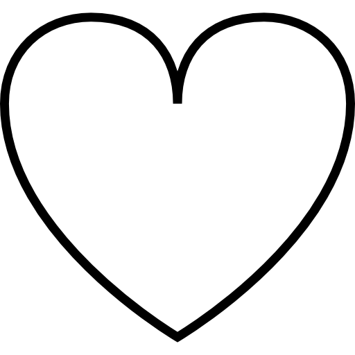 Cozy Heart Outline Free Shapes Icons