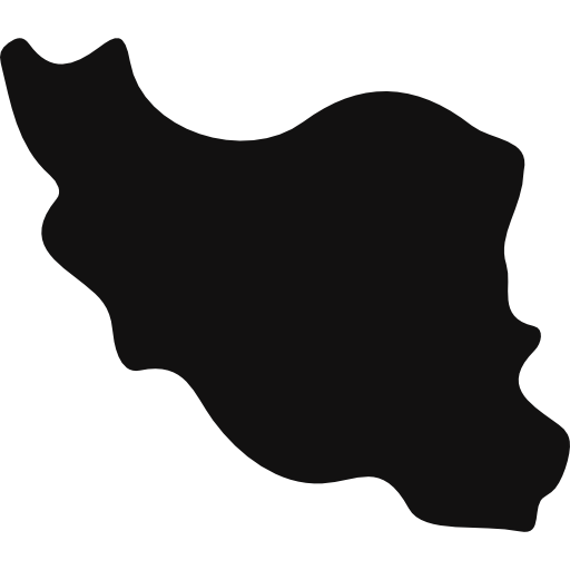 Iran Black Country Map Shape Icons Free Download
