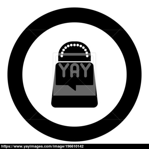 Salt Or Pepper Icon Black Color In Circle Vector