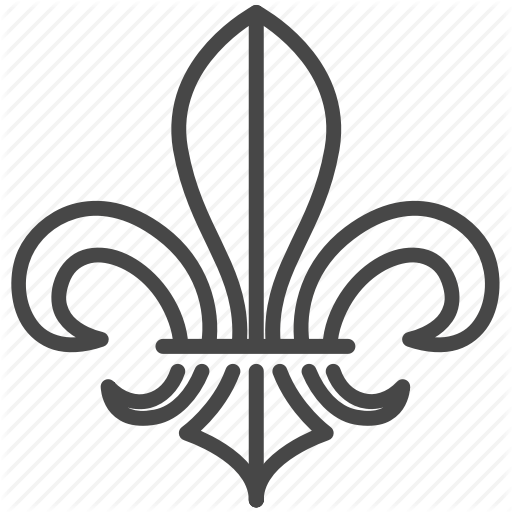 Emblem, Fleur De Lis, France, French, Lily, Scout Icon