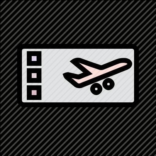 Flight Ticket, Holiday, Ticket, Travel, Vacation Icon