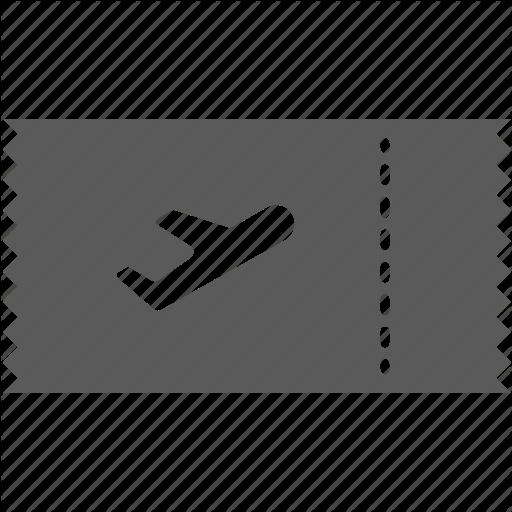 Air Ticket, Airplane, Flight, Ticket Icon