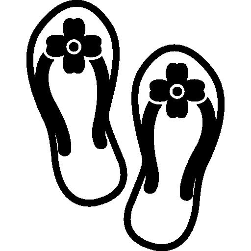 Flip Flops Pair Of Sandals For Summer