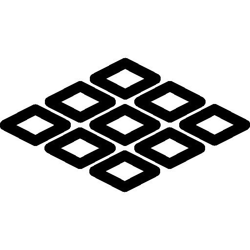 Tiles, Outline, Soil, Buildings, Ground, Floor Icon