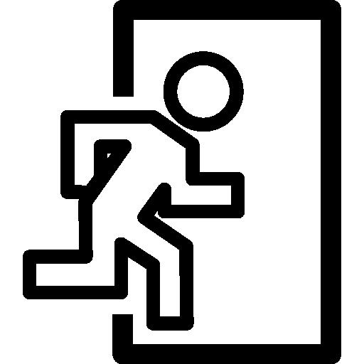Exit Door Symbol Icons Free Download