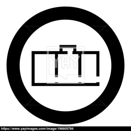 Apartment Plan Black Icon In Circle Vector Illustration Isolated