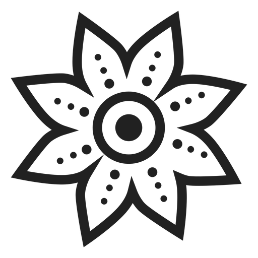 Dotted Petal Flower Icon