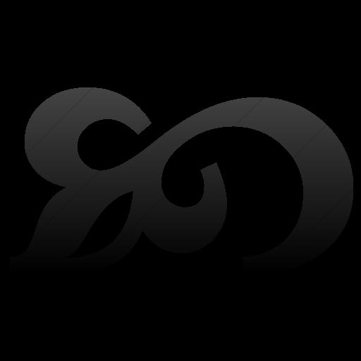 Simple Black Gradient Classica Flourish Icon