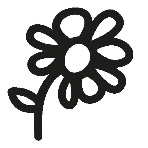 Flower Hand Drawn Symbol Free Vector Icons Designed
