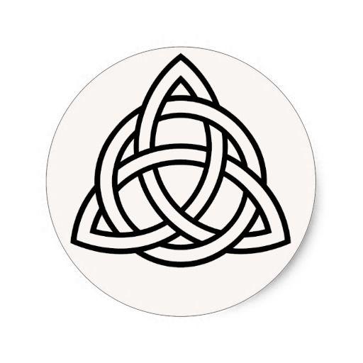 Swedish Trinity Symbols Stencil Triquetra Celtic Triple Spiral