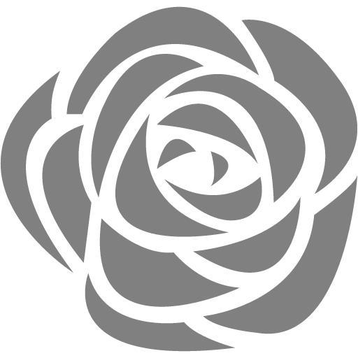 Gray Rose Icon