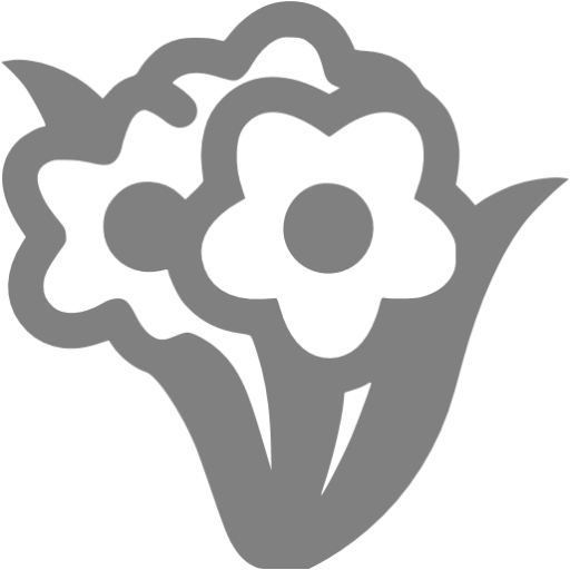 Gray Bunch Flowers Icon
