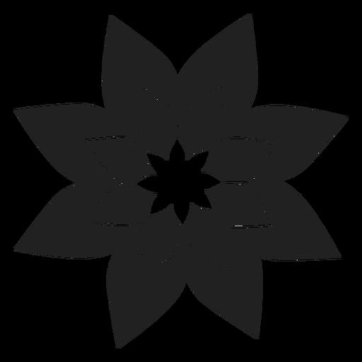 Poinsettia Flower Icon