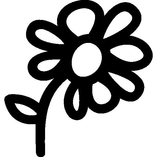 Flower Hand Drawn Symbol