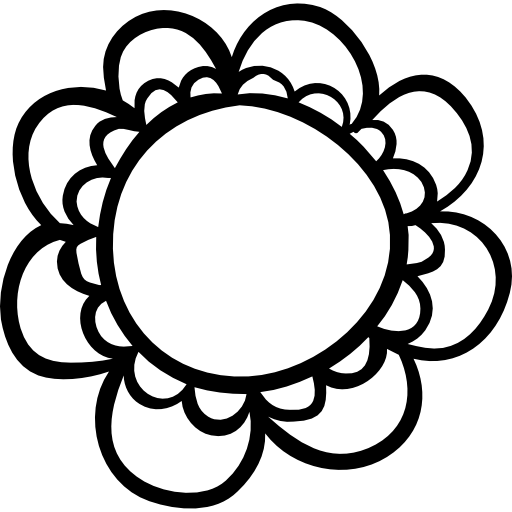 Flower With Rounded Petals Icons Free Download
