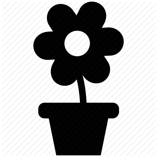 Daisy, Flower, Greenness, Nature, Plant, Pot, Potted Plant Icon