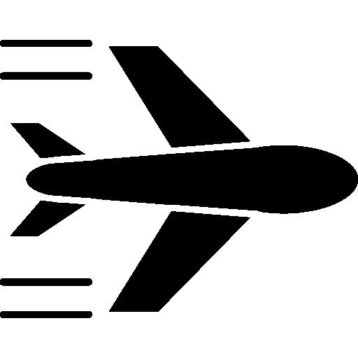 Airplane Flight Flat Icon
