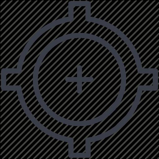 Bullseye, Crosshair, Goal, Target, Target Focus Icon