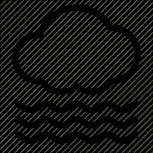 Cloud, Cloudy, Fog, Foggy, Hazy, Mist, Visibility Icon