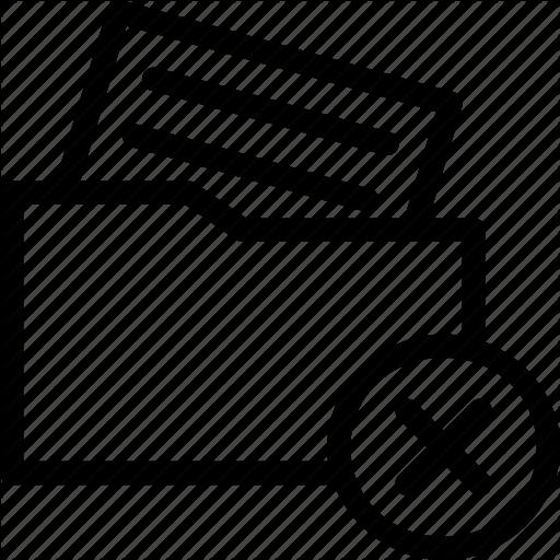 Cross Document, Delete Document, Document, File, Folder