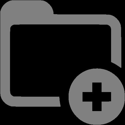 Gray Add Folder Icon