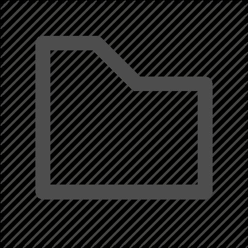Folder, Icon, Line Style, Vector Icon