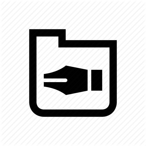 Folder, Organize, Pen, Tool, Vector Drawing Icon