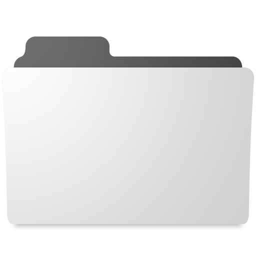 White And Black Windows Folder Icon Compurters
