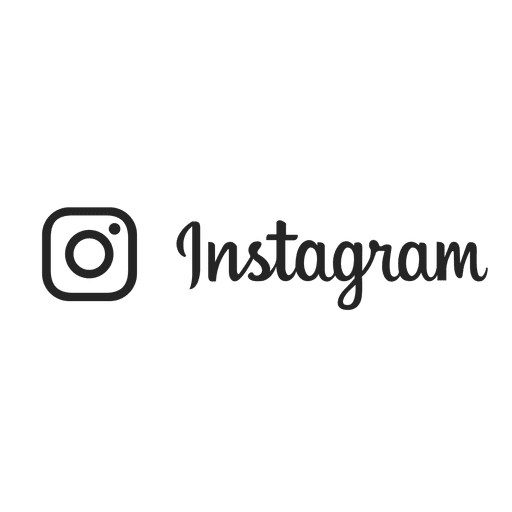 Instagram Silhouette Stroke Logo