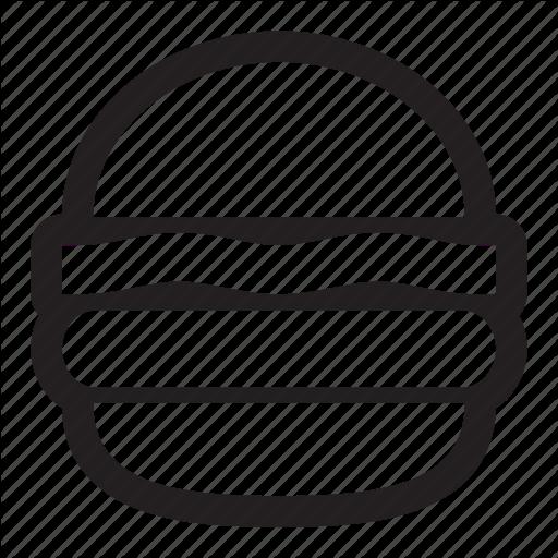 Hamburger, Circle, Transparent Png Image Clipart Free Download