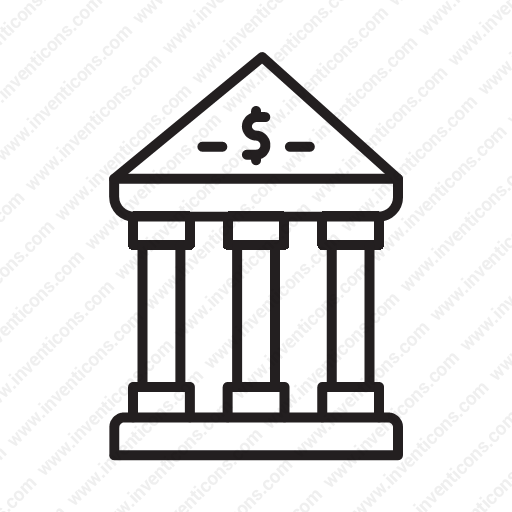 Download Building,cash,deposit,bank,bank Icon Inventicons