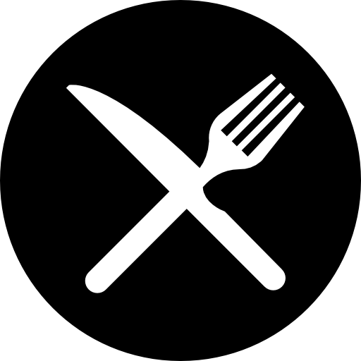 Food Plate Black Icon