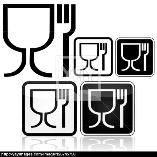 Food Safe Icons Vector