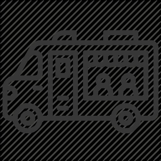 Commerce, Fast Food, Food, Restaurant, Transport, Truck Icon