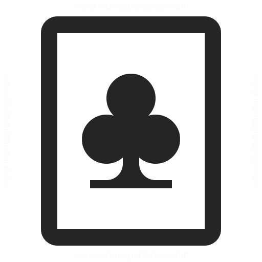 Playing Card Clubs Icon Iconexperience