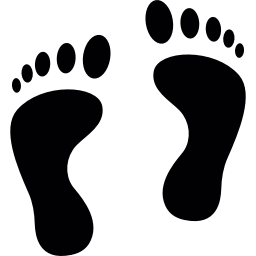Footprint Silhouette Icons Free Download