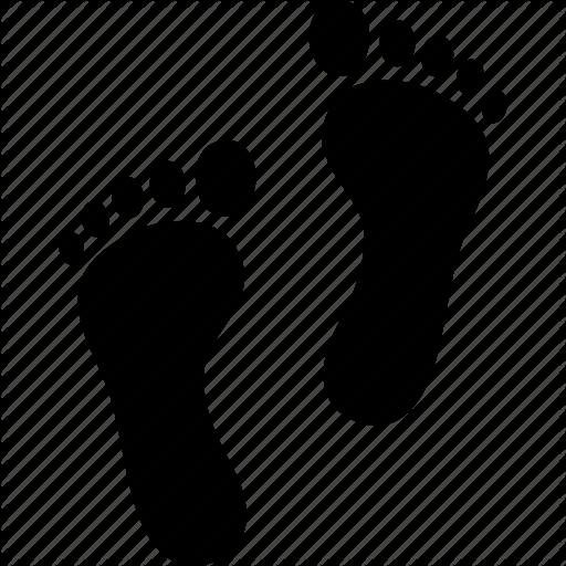 Feet, Foot, Footprint, Footprints, Print, Prints, Trail Icon