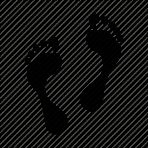 Foot, Footprint, Human, Icons, Print Icon