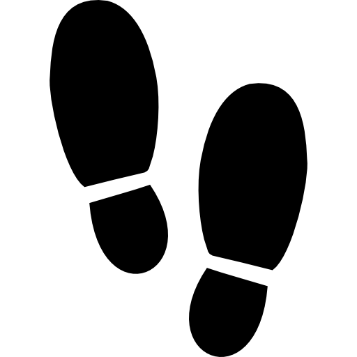 Footsteps Silhouette Variant Icons Free Download